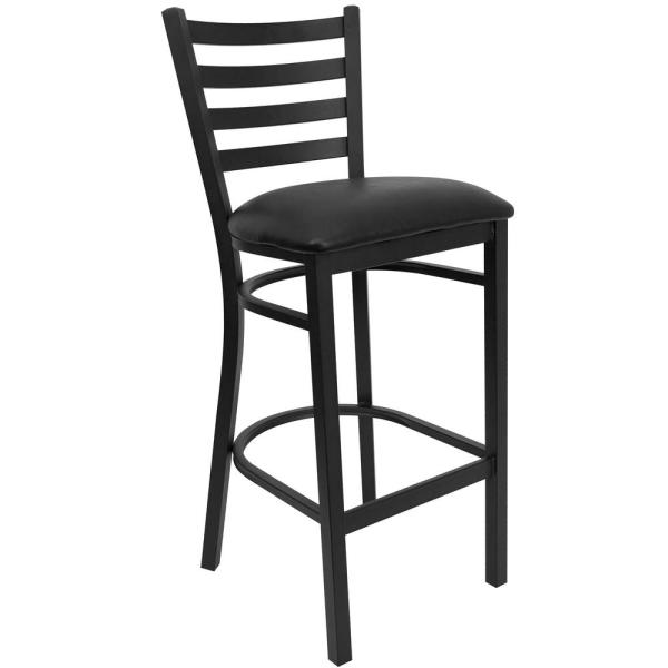 Flash Furniture 31 in. Black Cushioned Bar Stool XUDG697BBARBKV