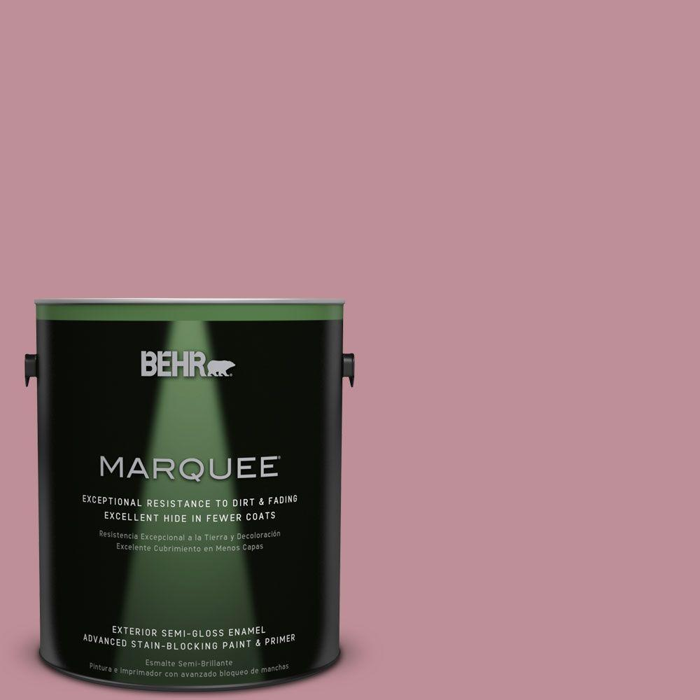 BEHR MARQUEE 1-gal. #S130-4 Cherry Juice Semi-Gloss Enamel Exterior Paint