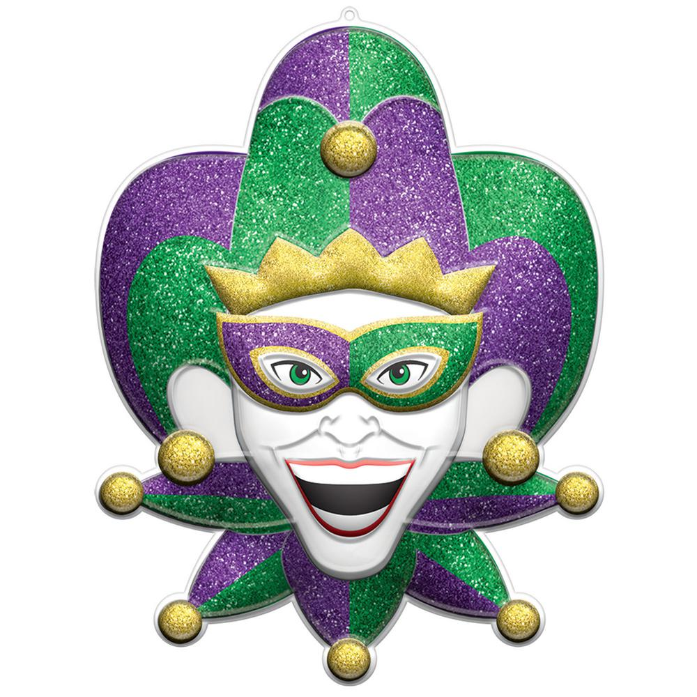 b6ca0c6f401 Amscan 28 in. Mardi Gras Plastic Jester 3D Decoration (2-Pack ...