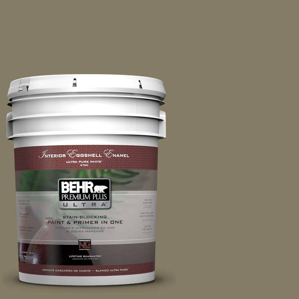 BEHR Premium Plus Ultra 5 gal. #PPU8-24 Deserted Island Eggshell Enamel Interior Paint and Primer in One