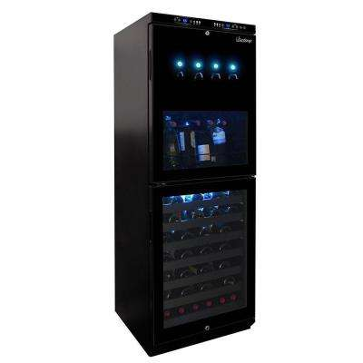 Dual-Zone 4 Bottle Wine Dispenser and 88 Bottle Cooler