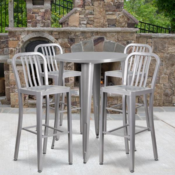 Metal Round Outdoor Bistro Set Cga