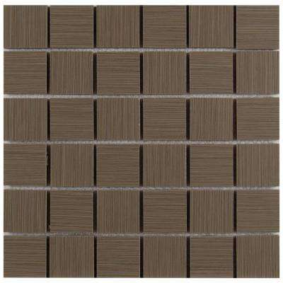 Metro Charcoal 12 in. x 12 in. x 10mm Porcelain Mesh-Mounted Mosaic Tile (8 sq. ft. / Case)