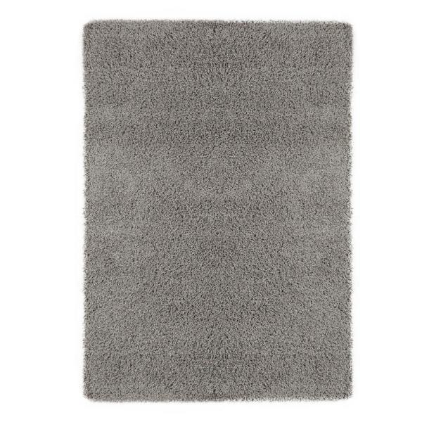 Ottomanson Contemporary Solid Grey 8 Ft