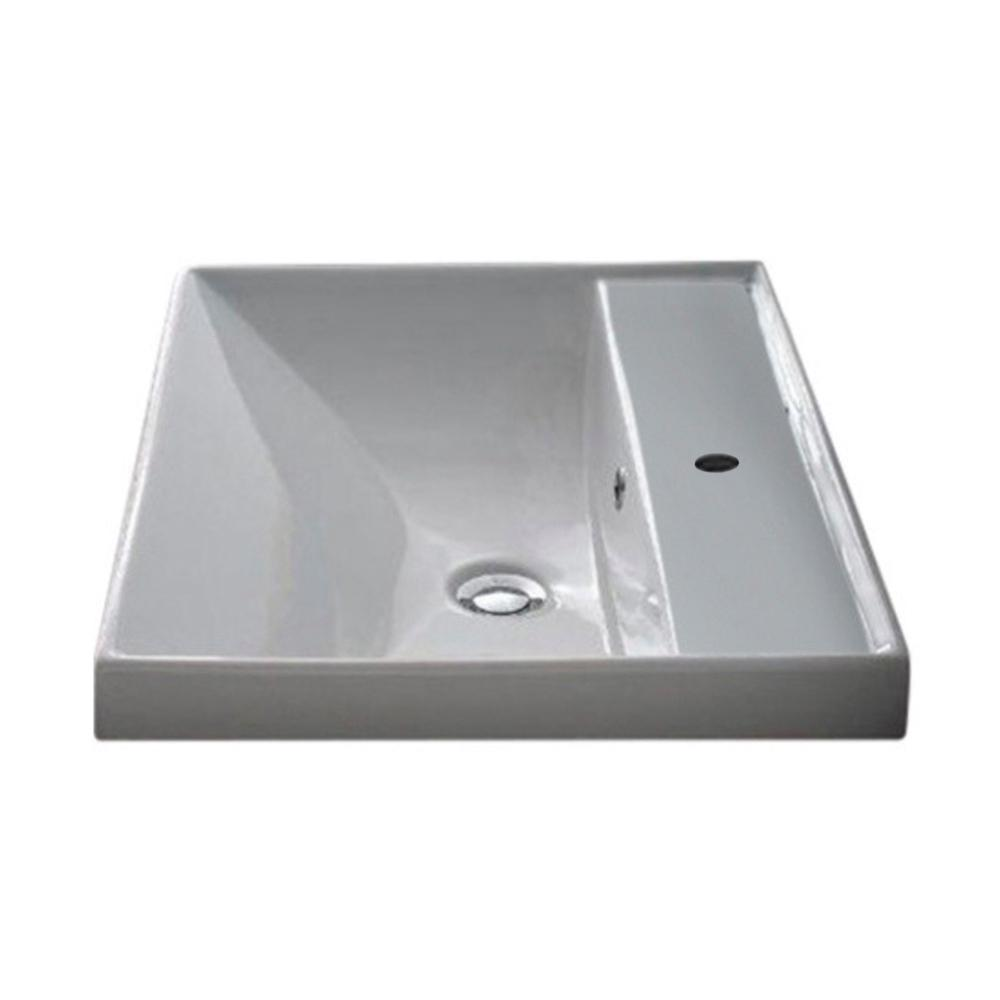 ML Wall Mounted Bathroom Sink in White