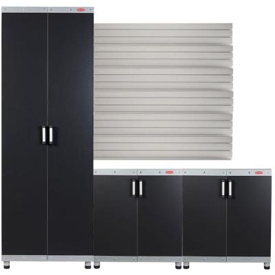 FastTrack Garage Laminate Cabinet Set with Wall Panel (3-Piece)
