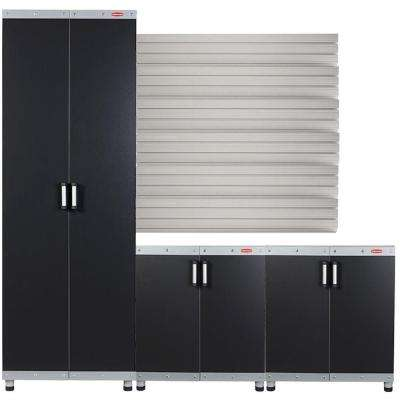 Beau FastTrack Garage Laminate Cabinet Set With Wall Panel (3 Piece)
