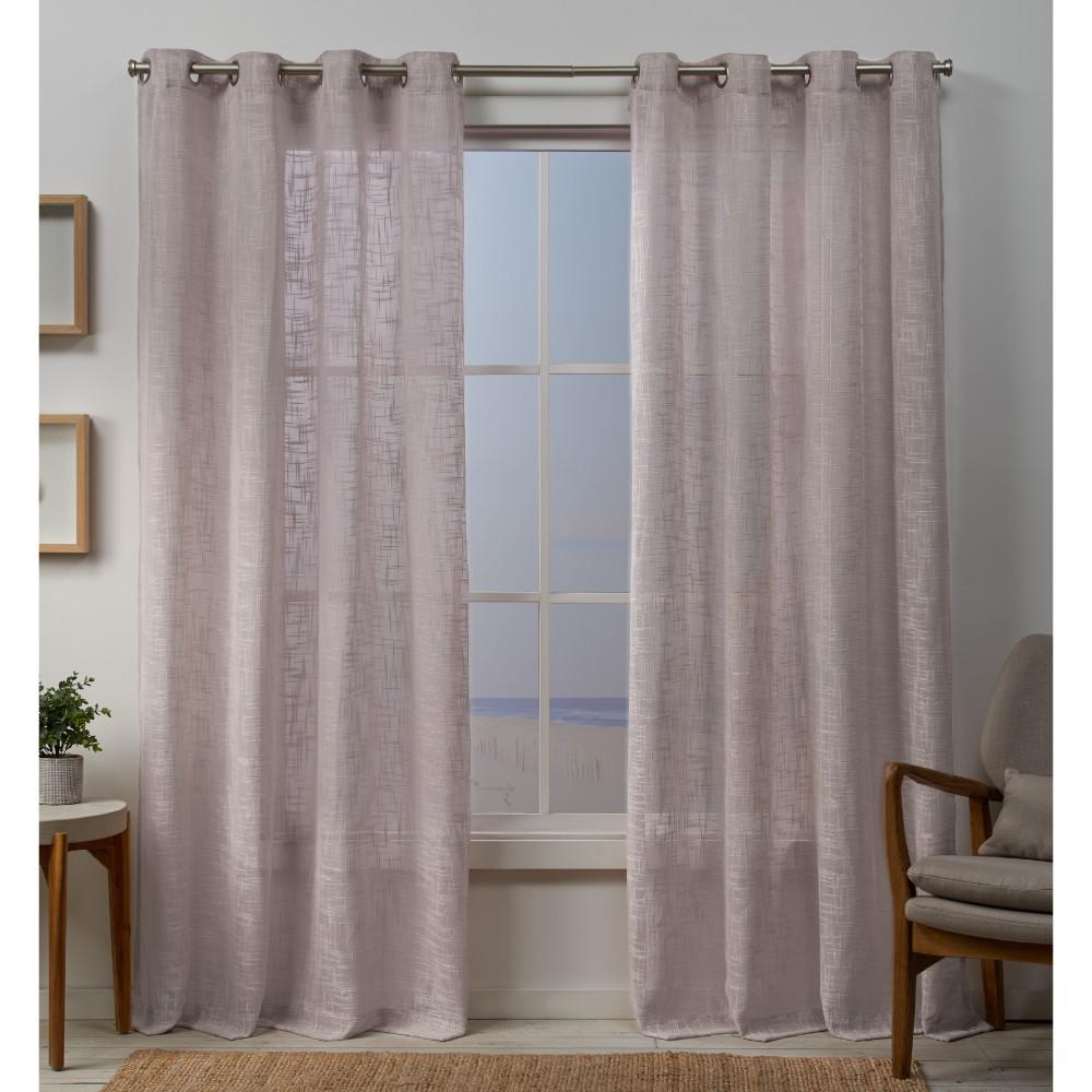 Exclusive Home Curtains Sena 54 In. W X 84 In. L Sheer