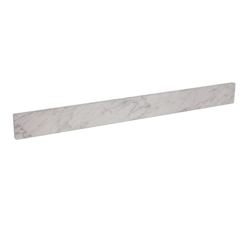 Home Decorators Collection 36.5 in. Stone Effect Backsplash in Cascade