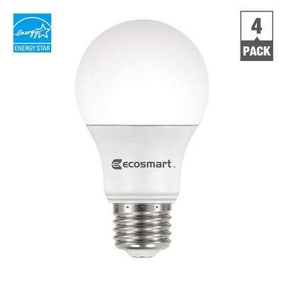 60W Equivalent Bright White A19 ENERGY STAR and Dimmable LED Light Bulb (4-Pack)