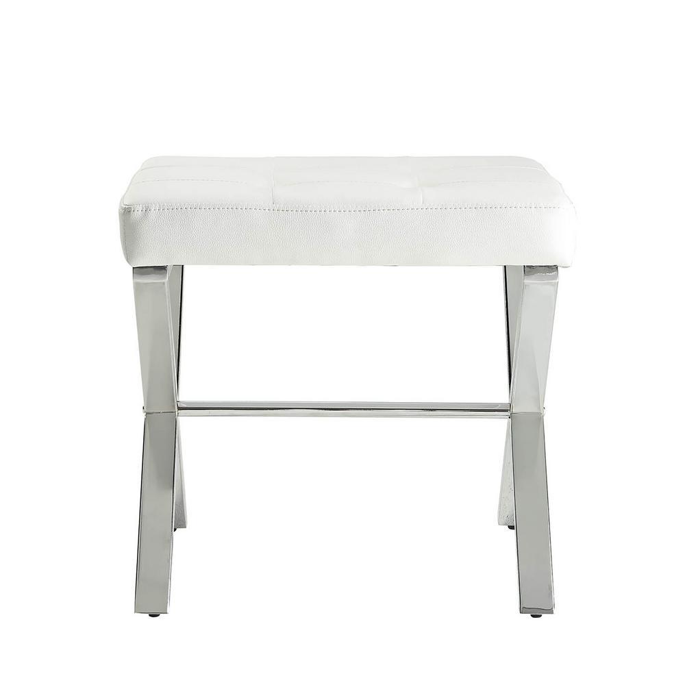 Carolina Cottage Elisabetta White Tufted Vanity Bench VB1620-WHTCHR