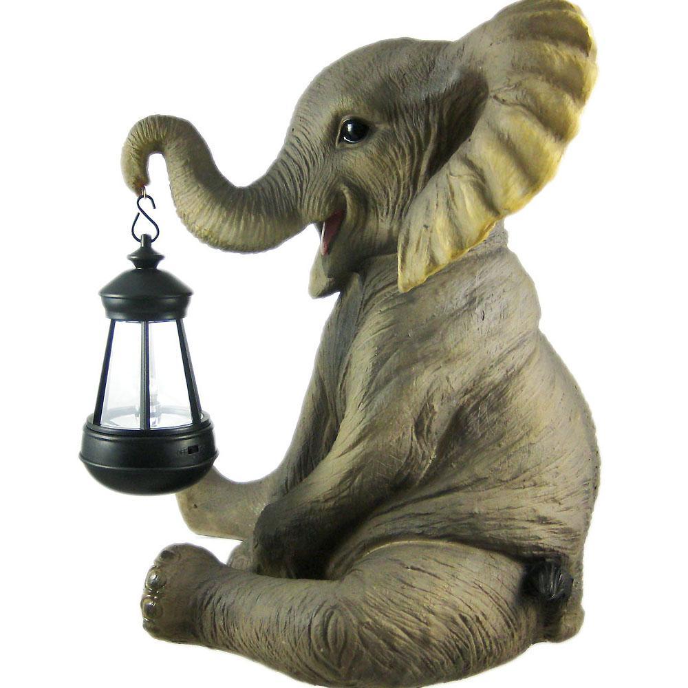 Garden Statue Lantern/Cute Elephant Porch