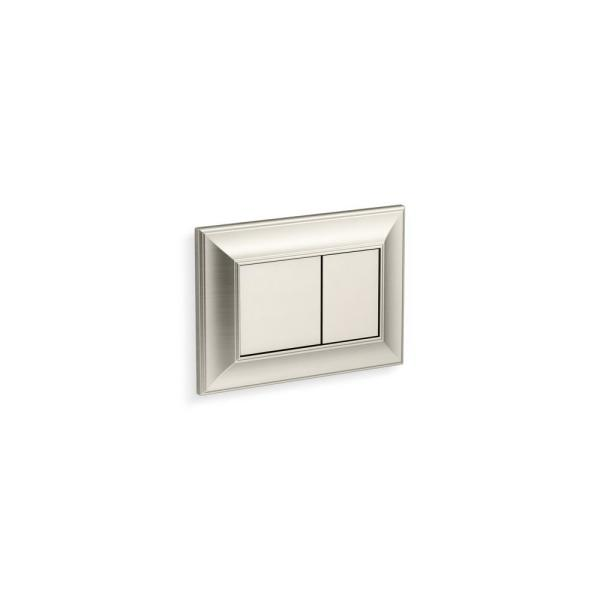 Memoirs Flush Actuator Plate for In-Wall Tank and Carrier System in Vibrant Brushed Nickel