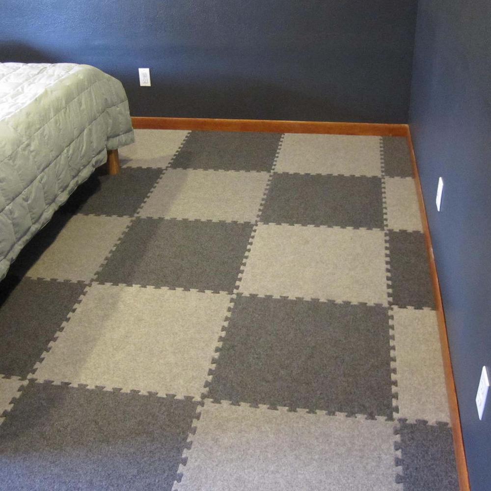 Brown Black  puzzle Carpet Tiles
