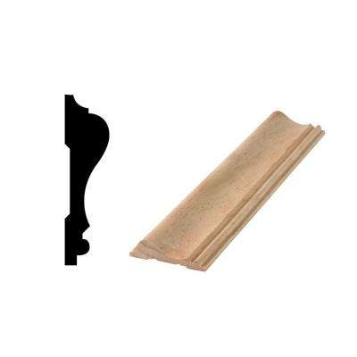 WM 390 11/16 in. x 2-5/8 in. x 96 in. Solid Pine Chair Rail Moulding