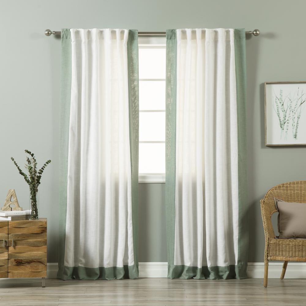 best home fashion 84 in l white linen blend spruce. Black Bedroom Furniture Sets. Home Design Ideas
