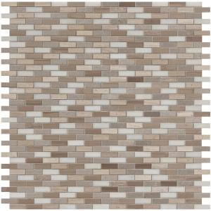 Arctic Storm 12 in. x 12 in. x 10mm Honed Marble Mesh-Mounted Mosaic Floor and Wall Tile (1 sq. ft.)