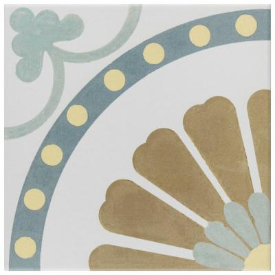 Revival Ring Encaustic 7-3/4 in. x 7-3/4 in. Ceramic Floor and Wall Tile