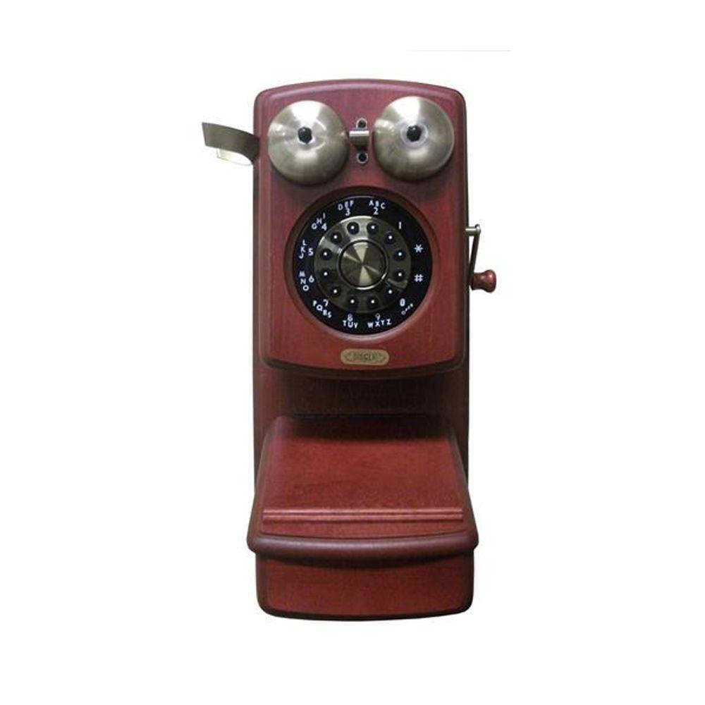 Golden Eagle Country Wood Corded Phone - Mahogany