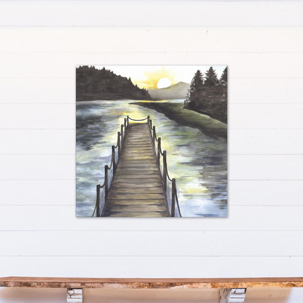 Designs direct 36 in x 36 in lakehouse view printed for Direct from the designers