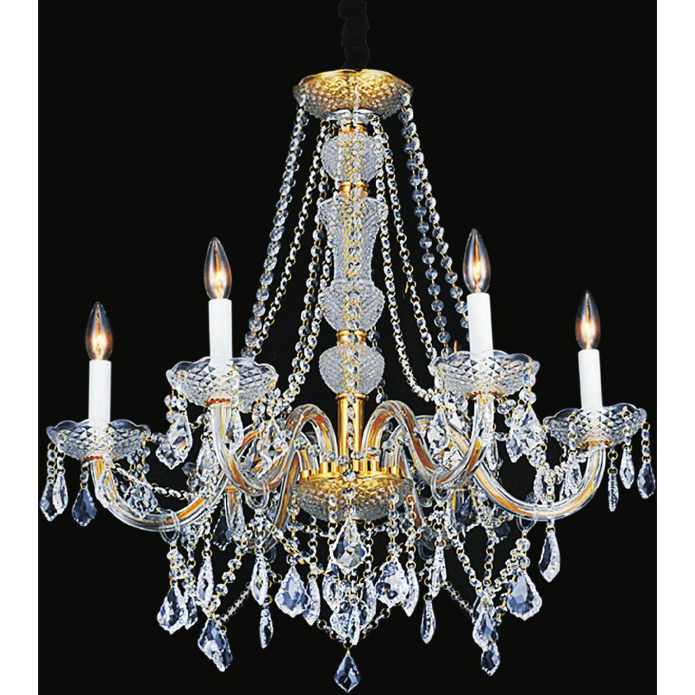 Princeton 6-light gold chandelier