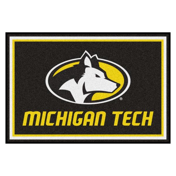 NCAA Michigan Tech University 5 ft. x 8 ft. Ultra Plush Area Rug