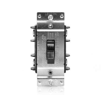 40 Amp 600 Volt Industrial Grade Double Pole Single Phase AC Manual Motor Controller Toggle Switch - Black