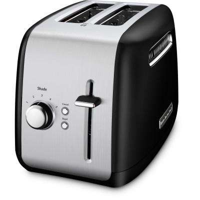 2-Slice Black and Silver Toaster