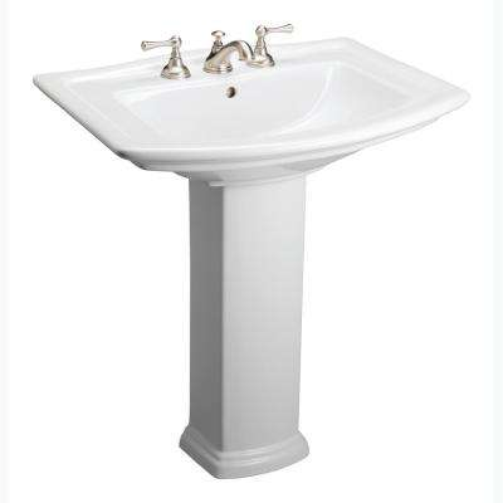 Washington 550 Vitreous China Pedestal Combo Bathroom Sink in White