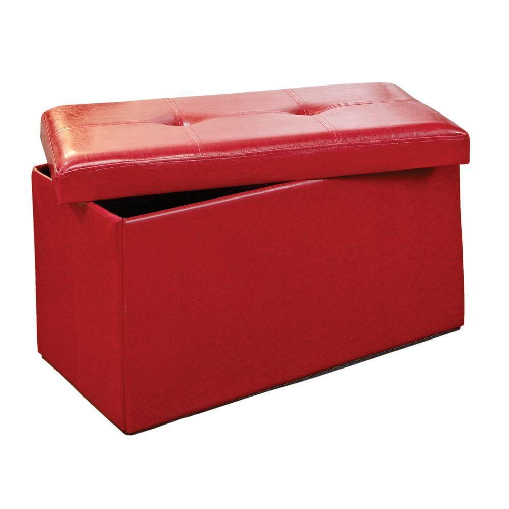 Simplify Red Storage Ottoman F 0630 Red The Home Depot