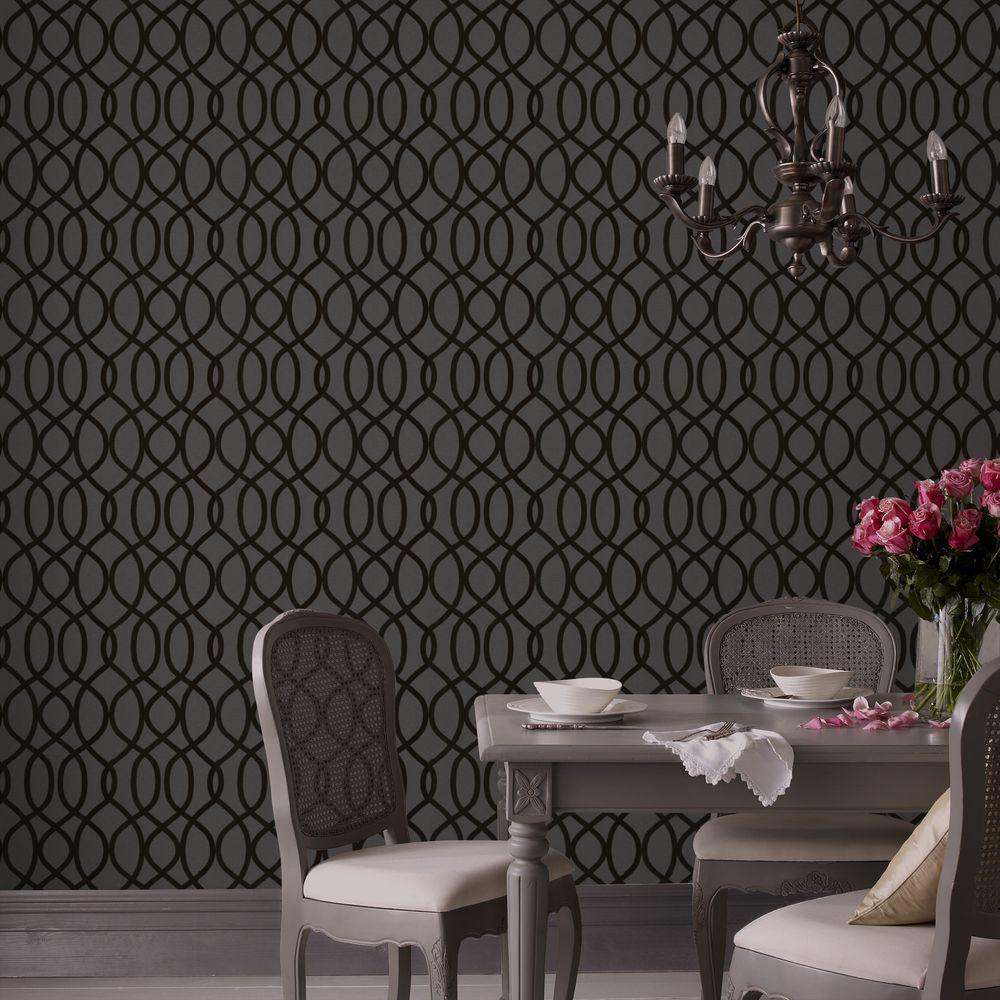 Graham & Brown Knightsbridge Flock Removable Wallpaper