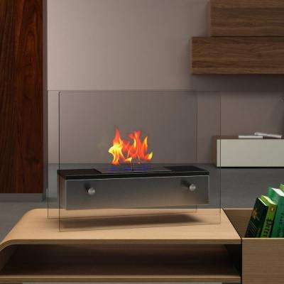 Naples 18 in. Vent-Free Ethanol Fireplace in Black
