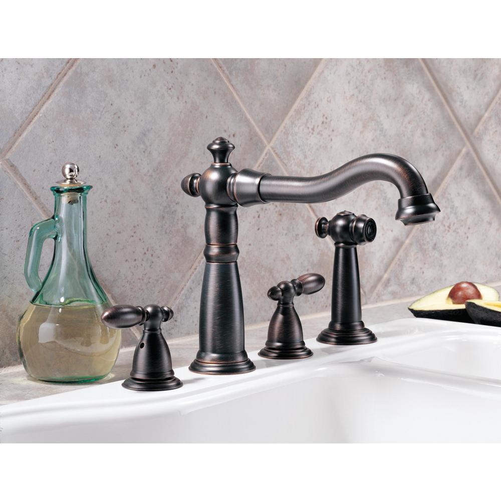 Victorian 2-Handle Standard Kitchen Faucet in Venetian Bronze