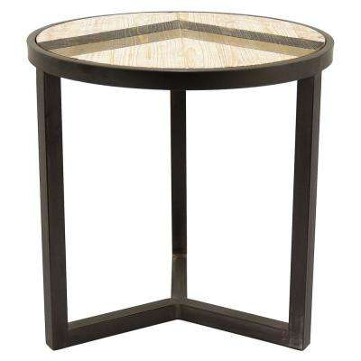 20 in. Black Accent Table