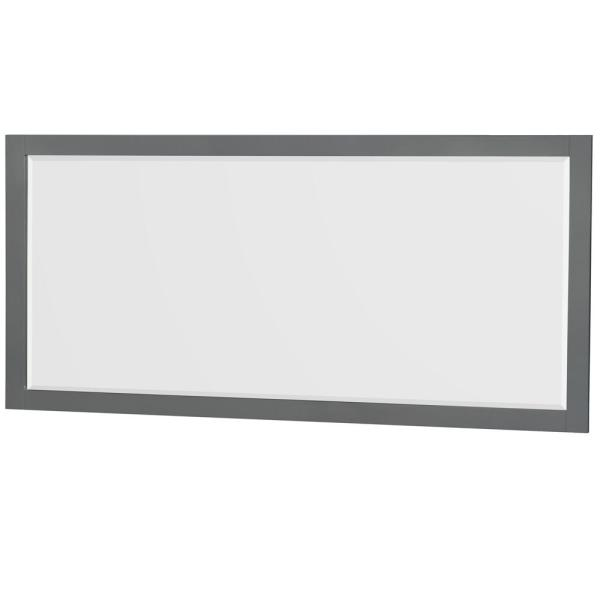 Sheffield 70 in. W x 33 in. H Framed Rectangular Bathroom Vanity Mirror in Dark Gray