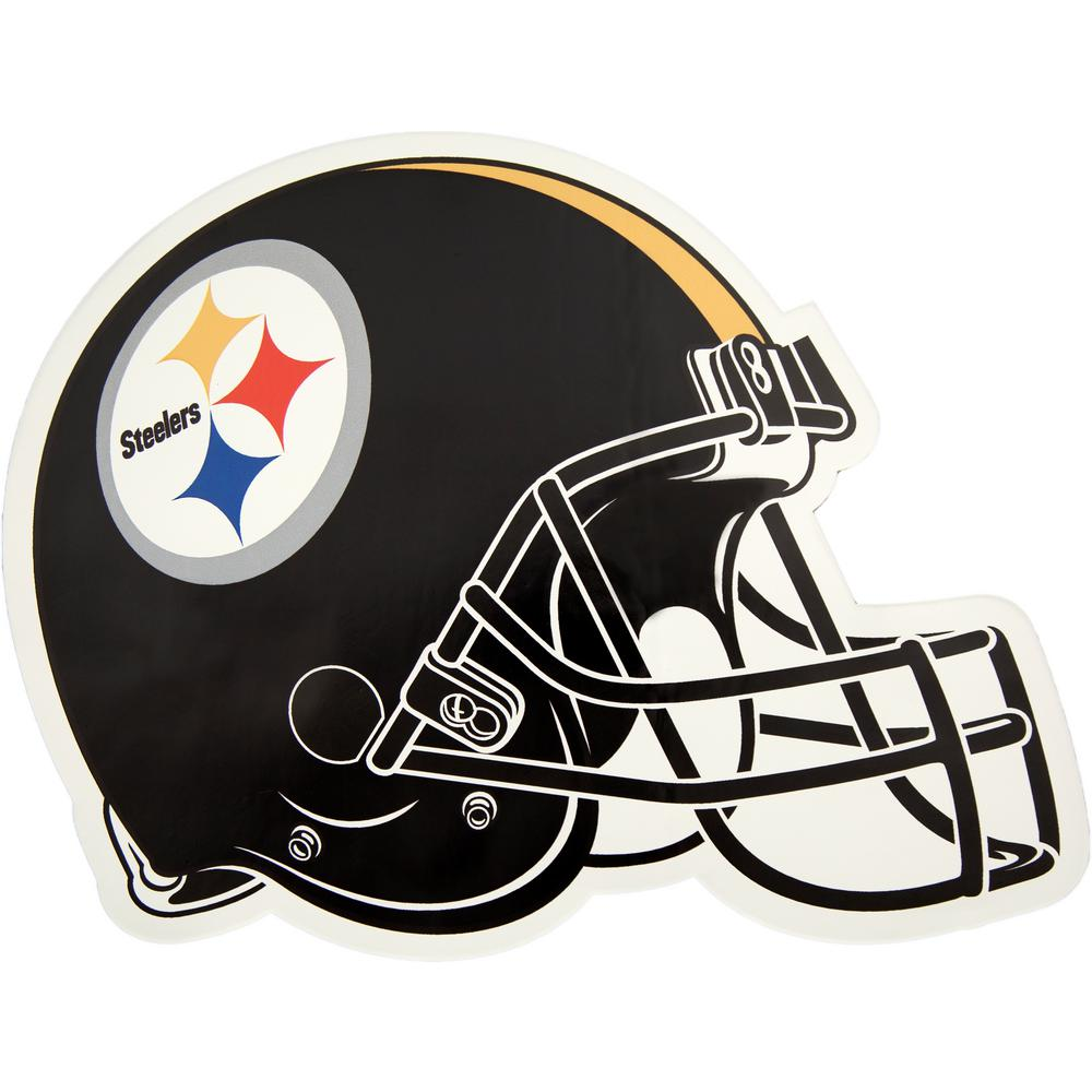 Applied Icon NFL Pittsburgh Steelers Outdoor Helmet Graphic- Large-NFOH2603  - The Home Depot 48cb29a76