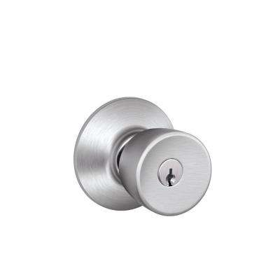 Bell Satin Chrome Keyed Entry Door Knob