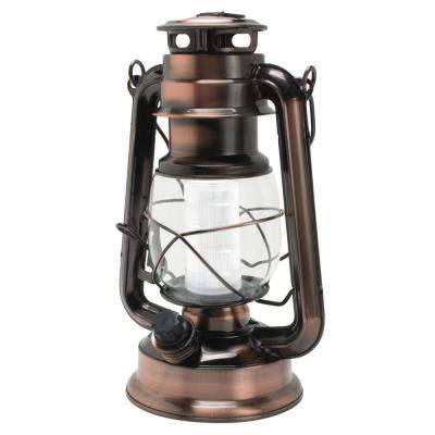 12 LED Vintage Style Copper Lantern