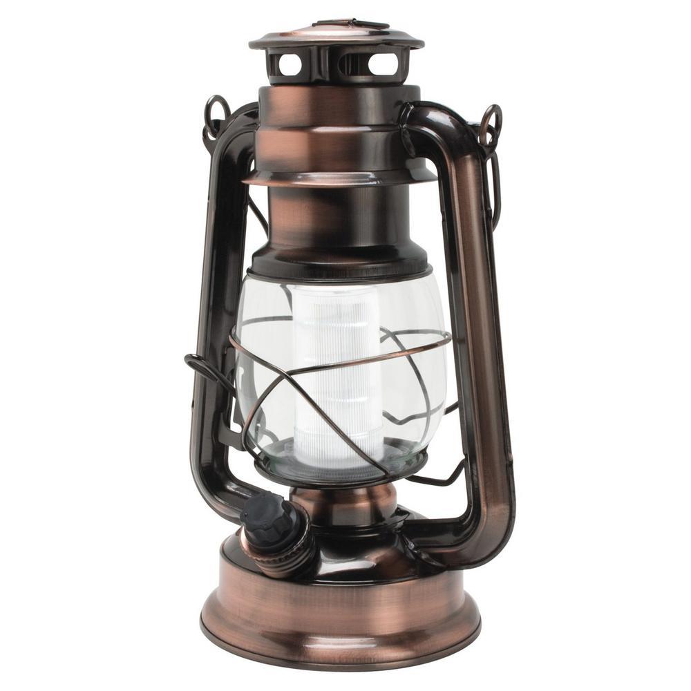 12 LED Vintage Style Copper Lantern