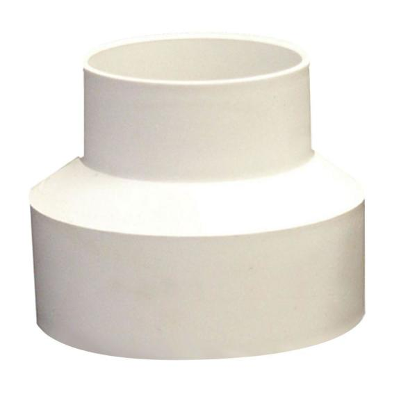 4 in. x 6 in. PVC Sewer and Drain Hub x Hub Reducer Coupling