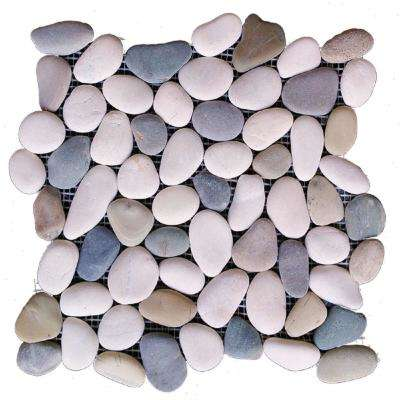 12 in. x 12 in. Blended Natural Pebble Floor and Wall Tile (5.0 sq. ft. / case)