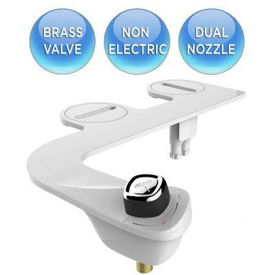 Slim Edge Non-Electric Bidet Attachment System in White