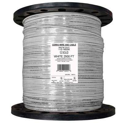 2500 ft. 12 White Solid THHN Wire