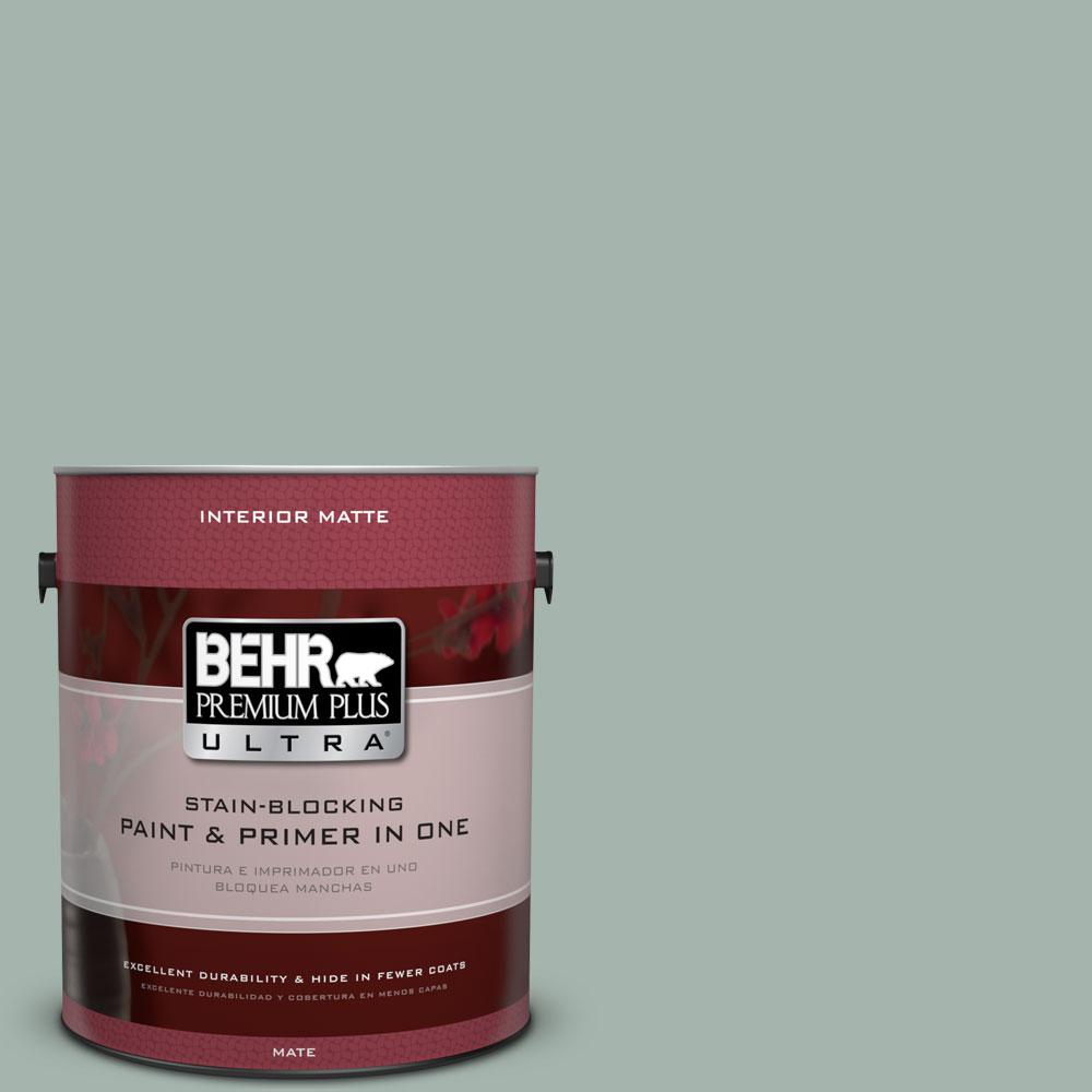 BEHR Premium Plus Ultra 1 gal. #460E-3 Smokey Slate Flat/Matte Interior Paint