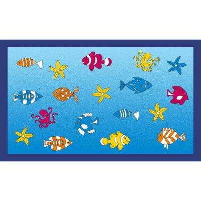 Fish Multi 3 ft. x 5 ft. Indoor Area Rug
