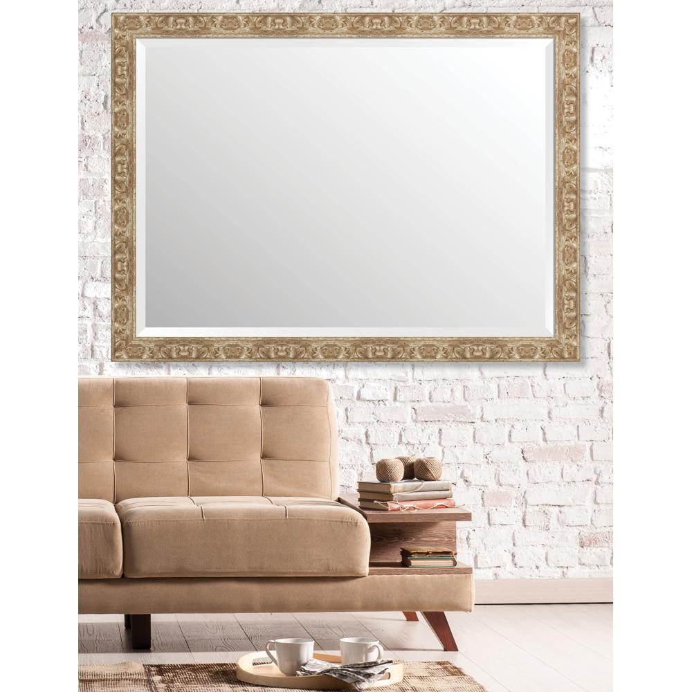 Langdon 34.625 in. x 46.625 in. European Medium Framed Bevel Mirror