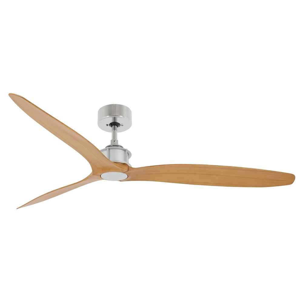 Lucci Air Viceroy 52 in. Matte Silver and Teak Ceiling Fan