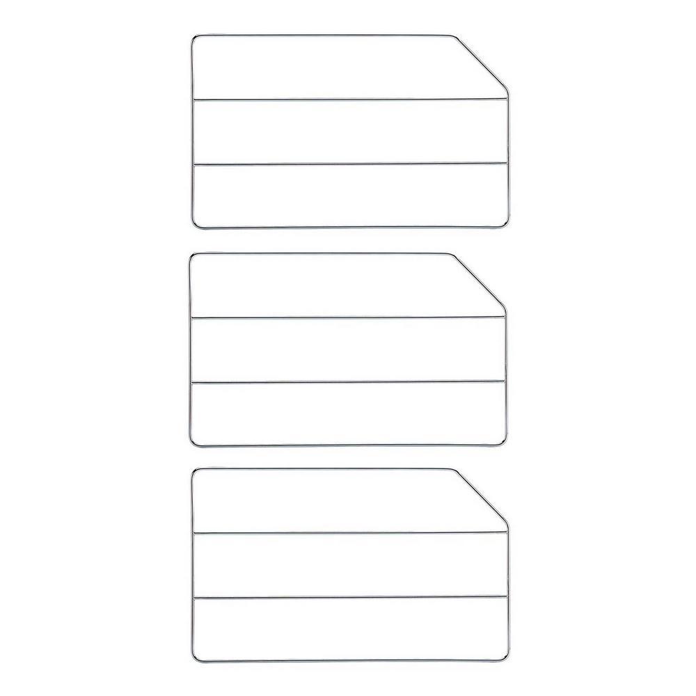 18 in. Chrome Bakeware Baking Sheet Tray Divider (3-Pack)