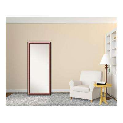 Mahogany Wood 28 in. W x 64 in. H Traditional Floor/Leaner Mirror