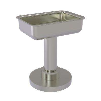 Vanity Top Soap Dish in Satin Nickel